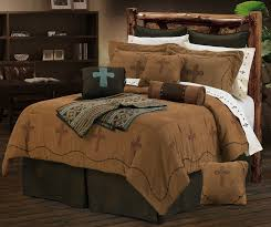 cross and barb wire texas comforter bedding set super queen for pertaining to barbed ideas 7