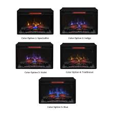 classicflame 26 in spectrafire plus infrared quartz for simple large electric fireplace insert