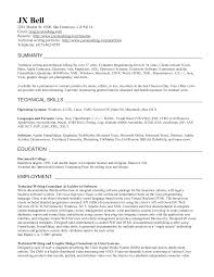 Resume Technical Writer Examples