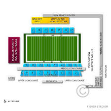 Fisher Stadium 2019 Seating Chart