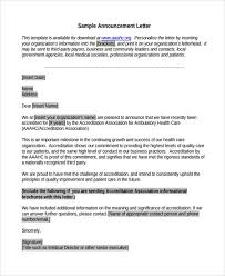announcement format announcement letter sample format node2003 cvresume paasprovider com