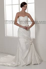 sheath column strapless sweetheart taffeta wedding dresses