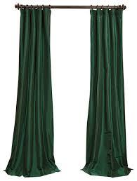 emerald green faux silk taffeta curtain 50x84 traditional curtains