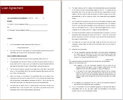 Free Loan Agreement MS Word Loan Agreement Templates Free Agreement Templates 66