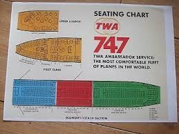 Twa B747 Seating Chart Airline Seat Maps Jumbo Jet