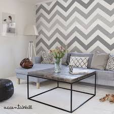 Chevron Cool Grey Peel Stick Fabric Wallpaper Repositionable - Simple  Shapes Wall Decals, Furniture, and Accessories