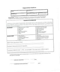 Separation Notice Separation Notice Template Sample Employee Termination