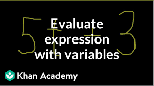 Math Expressions 120 Chart Evaluating An Expression With One Variable Video Khan