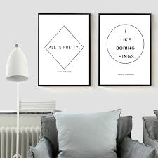 >andy warhol quote canvas painting minimalist poster modern wall art  andy warhol quote canvas painting minimalist poster modern wall art decor art typography print home