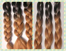 Cheap Price Faded Two Tone Ombre Black Brown Color X Pression Braiding Hair