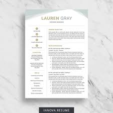 Etsy Resume Template Simple Creative Resume Template For Word Modern Resume Design CV Etsy