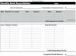 Check Reconciliation Template Free Bank Reconciliation Template Under Fontanacountryinn Com