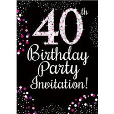 40th Birthday Invitations 40th Birthday Invitations Woodies Party