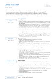Network Engineer Resume Samples Templates Visualcv