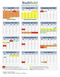 School Calendar Youthbuild Charter School Of