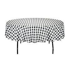 linentablecloth 70 inch round polyester tablecloth black white checker