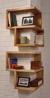 Storage & Organization: Wooden Diy Corner Shelves - Corner Bookshelf