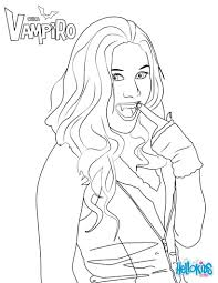 Daisy O Brian Coloring Page From Chica Vampiro Tv Series More Chica
