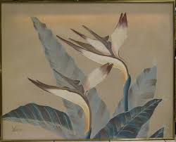fl art work orchids oil painting