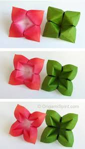 Origami Flower Paper How To Make An Origami Flower And Leaves Nice And Versatile