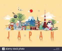 Hd Poster Design Wonderful Japan Travel Poster Design In Flat Style Stock
