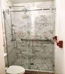 shower curtain vs glass door undocked neo round shower rodhome depot enclosures showers neo round shower rod shower doors vs shower