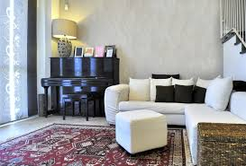 tiny apartment furniture. Apartment Modern Dark Brown Velvet Upholstery U Shaped Sectional Sofa Small Loft Furniture Cherry Wood Wall Tiny C