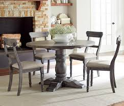 A gorgeous addition to any home, this table is perfect for dinners with friends and meals with your family. Progressive Furniture Muses 5 Piece Round Dining Table Set With Ladderback Chairs Lindy S Furniture Company Dining 5 Piece Sets