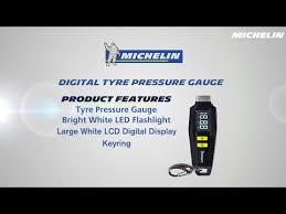 Michelin Tire Pressure Chart Car Michelin Digital Tyre Tread Depth And Pressure Gauge Youtube