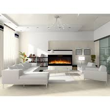 elite flame 50 inch fusion pebble built in smokeless wall mounted electric fireplace