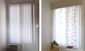 decorative vertical blinds. i\u0027m not a fan of vertical blinds and they were everywhere in my la apartment when i moved in. since renter, wanted an easy way to replace them with decorative