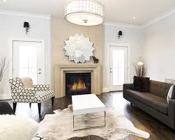 beautiful modern luxury living room design ideas with amazing pendant lamp design and lovely fireplace ideas and with cowhide rug ideas also photos of
