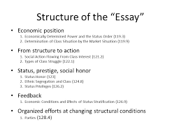 "class status and party fall structure of the ""essay"" economic  2 structure of the ""essay"" economic"