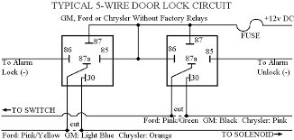 car alarm door lock wiring 5 wire door locks diagram