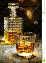 Hard Stock Of Liquor Glass Image Orange Brandy 26548617 Bottle And -