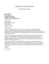 Relocation Cover Letter Samples Relocation Cover Letter Examples For