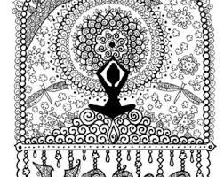 Wondering where it's best to follow me? Yoga Coloring Page Etsy