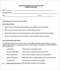 Performance Evaluation Form - 10+ Free Word, Pdf Documents Download ...