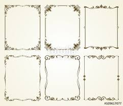 vector vine calligraphic frames set vine frame calligraphic frame decoration ornate frame retro