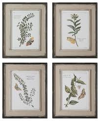 set of 4 framed wall art