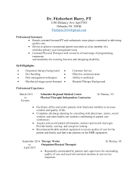 Physical Therapist Job Description For Resume Best Of Physical Therapy Resume