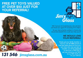 the wonders of a pet door in glass jim s is offering a great package of pet toys valued at over 50 just for referring a friend or family member