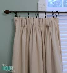 Diy Drop Cloth Curtains Diy Easy Pleated Curtains From Sloppy To Structured The