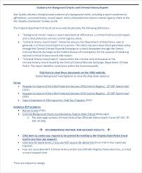 sp167 form background report sample 8 examples in word pdf