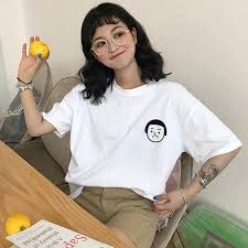 felicelife  <b>Women Round Neck Cartoon</b> Mushroom Haircut Print ...