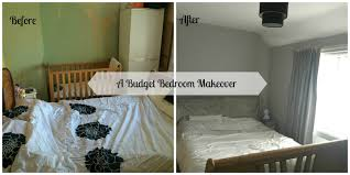 Marvelous Budget Bedroom Makeover Before And After Photo.