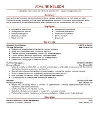 Store Manager Resume Resumes Retail Job Description Dutiese