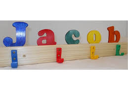 Name Coat Rack Magnificent Kid's Name Coat Rack Personalized Wooden Coat Rack Etsy