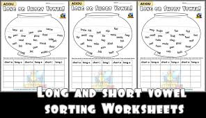 Short vowel sound writting worksheets for kindergarden to practice alphabets and sounds. Sort The Vowels Long And Short Worksheets Making English Fun