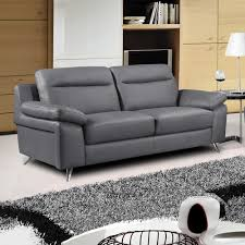 italian sofas simple living. Nuvola Dark Grey Leather Sofa 3 Seater Settee Italian Sofas Simple Living T